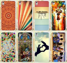 You Make Me Complete Chocolate Family Rain Girl Colorful Phone Cases Covers Skin Shell For HTC Desire 816 800 D816W Phone Case