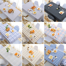 Art lattice table cloth cotton linen tablecloth waterproof table rectangular coffee manteles nappes(China)
