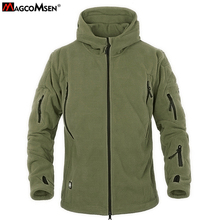 MAGCOMSEN Military Men Fleece Tactical Softshell Jacket Polartec Thermal Polar Hooded Jacket and Coat Men Clothes AG-YCIDL-001