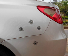 1 page,Realistic bullet holes car styling sticker, Shot hole sticker, All-weather, Washable 2lots more 20% off