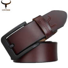 COWATHER fashion new male belt for mens high grade cow genuine leather belts 2016 hot sale strap ceinture homme free shipping