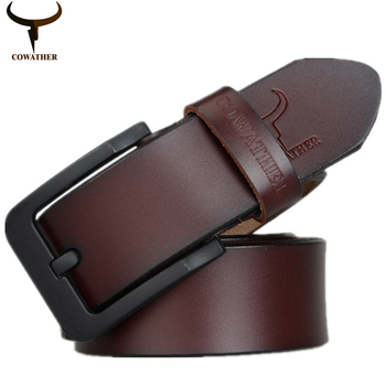 COWATHER moda de nueva male cinturón para hombre de vaca de alta calidad cinturones de cuero genuino 2016 de la venta caliente correa de ceinture homme envío gratis
