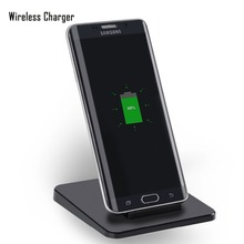 5w output Qi Wireless Charger Charging Pad for samsung s6/s6 edge/s6 edge plus/note5/s7/s7edge Stand Quick Wireless Charger