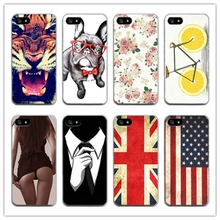 Cell phone Cover for Apple i Phone iPhone 5 5s SE 6 6s 7 fashion Cute Flag Printed phone Cases Covers For iPhone 5 5s SE(China)