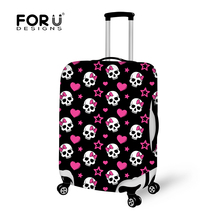 Designer Skull Print Luggage Protective Dust Cover Elastic Travel Suitcase Cover to 18-28inch Case Waterproof Travel Accessories