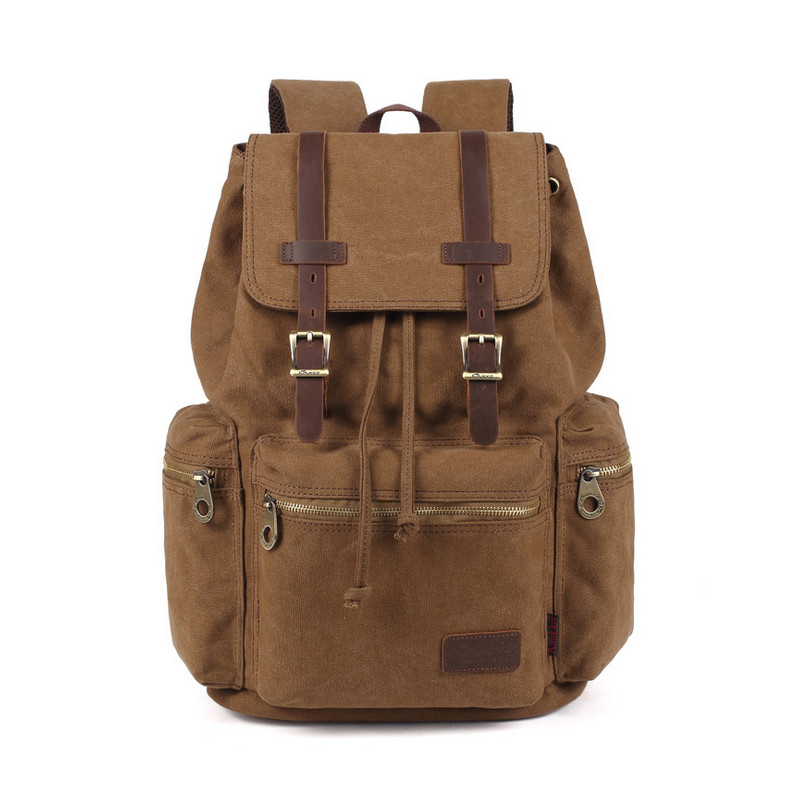 Men&amp;Women Large Capacity Casual Vintage Canvas Rucksack Laptop Backpacks School Bags For Teenagers Satchel Mochila Z45<br>