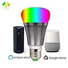 Tonbux LED Smart Bulb APP WIFI Control V5 RGB Dimmer E27 Light Base Intelligent Automation Module Bulb Google Home Support Alexa