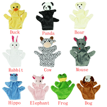 10 Patterns Puppets Cute Big Size Animal Glove Puppet Hand Dolls Plush Toy Baby Kid Zoo Farm Animal Glove Puppet Sack Plush Toy(China)
