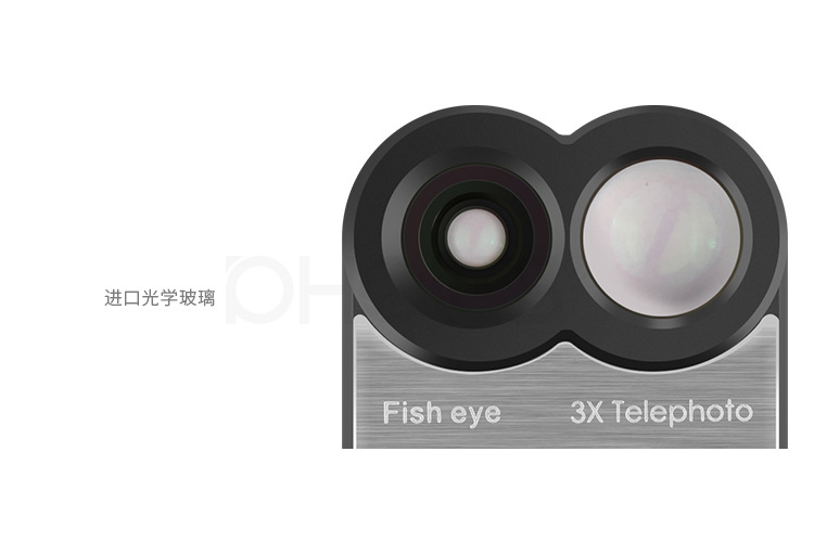 PHOLES Dual Camera Telescope Lens Fisheye Lens Wide Angle Lens For Apple iPhone 8Plus / 7Plus+Phone Case Cover 6
