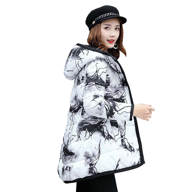 Wadded Cotton Jacket 2017 Women New Winter Coat Female Fashion Warm Parkas Hooded Womens Jacket Casual Coat Plus Size 4L83Îäåæäà è àêñåññóàðû<br><br>