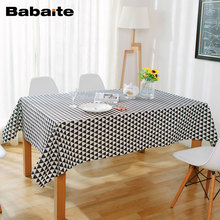 Babaite Nordic Stylish Cotton Linen Table Cloth Home Dinner Table Decoration Beauty Chic Party Picnic Garden Tablecloths Decor(China)