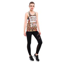 Vest High Quality Leopard Print Sleeveless Mesh Tank Top Women's Fitness Vest Quick Dry Grid Fiery Fierce Plus Size WHOLESALES()