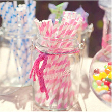 25pcs/Lot Chevron Striped And Polka Dot Drinking Paper Straws For Wedding Birthday Party Decoration