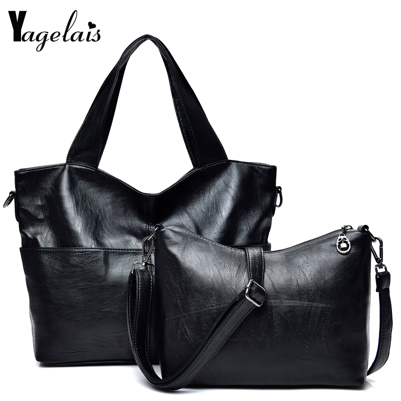 Women Casual Composite Bags Leather Zipper Casual Tote Solid Color Shoulder Crossbody Bag Women Soft Fashion Versatile Clutch<br>