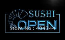 LB027- OPEN Sushi Bar Cafe Business Pub LED Neon Light Sign home decor shop crafts(China)
