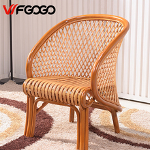WFGOGO Furniture Rattan Garden Chairs Pure hand weaving Indoor-Outdoor Restaurant Stack Rattan Chair Weather Outdoor Patio