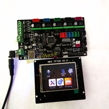 MKS GEN + MKS TFT28 colorful touch screen 3d printer DIY starter kit ATmega2560 mainboard stm32 lcd display compatible ramps1.4(China)