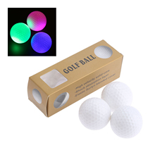 Surlyn 6pcs/Box LED Golf Balls Night Training Constant Shining Two Layer Golf Practice Balls With 6 Colors For Choice 42.6mm Dia(China)
