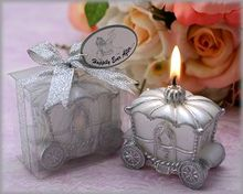 wedding favor candle gift for guests--Fairy Tale Pumpkin Carriage Candles for baby shower party decoration 60pcs/lot