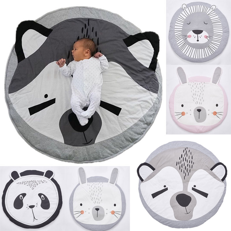 Sunny 90cm Round Cushion Pad Home Decor Seat Cushion Kids Pillow Stuffed Thick Cotton Play Pad Crwaling Mat Carpet Floor Rug Baby Room Toys & Hobbies