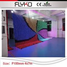 P100mm tv show Dj equipment 4mx7m video curtain screen club disco stage dj booth party decoration(China)