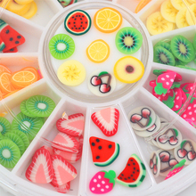 12 colors fimo Nail Art Decoration slice wheel beauty nails accessoires jewelry Manicure DIY Tools Fruits nail decals