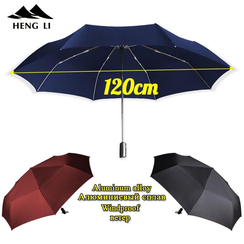 Men/'s Classic Big Dome Automatic Compact Folding Umbrella UV Parasol Windproof