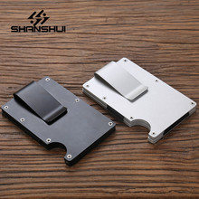 Men Business Card Case ID Credit Card Fashion Women's Purse Anti-Theft Large Capacity Metal RFID Cardholder Mini Money Clip