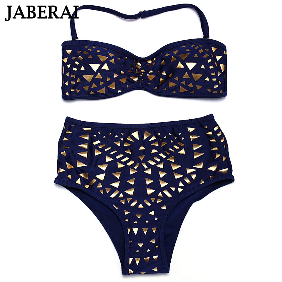 JABERAI Bandeau 2017 Push Up Bikini Sequins Bling Sexy Bikinis Highwaist Swimwear Women Swimsuits Bathing Suit maillot de bain 1<br><br>Aliexpress