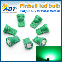 T10 #555 #44 #47 5050SMD 1LED AC 6.3V non ghosting pinball led bulbs