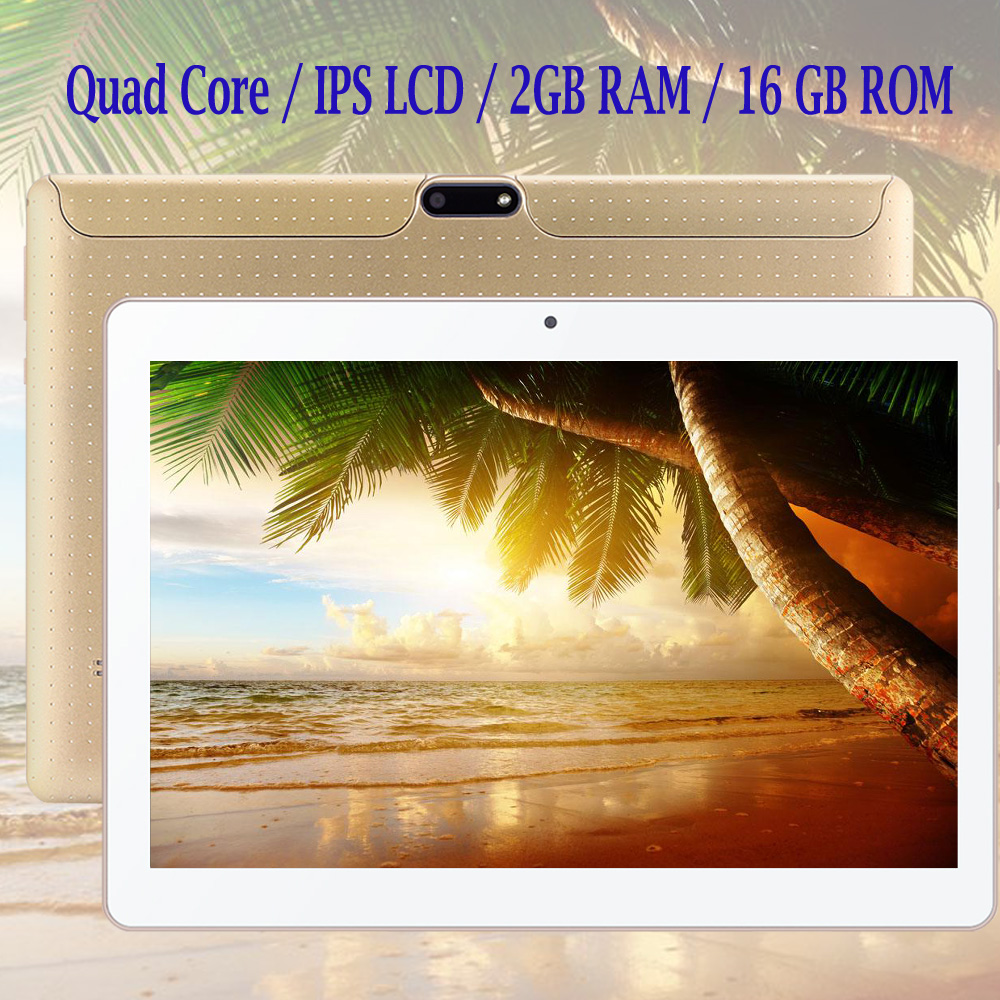BDF Android Tablet 10 Inch 3G Phone Call Android 6.0 Quad Core 1280x800 IPS LCD Tablet WiFi 2G+16G Free Shipping 7 8 9 10 Inch(China)