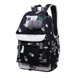 Рюкзак для девушек, с принтом кактуса