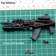 1/6 Scale 4D Weapon Accessories AK74 Assembling Gun Model Toy Fit 12'' Phicen Soldier Action Figure(China)