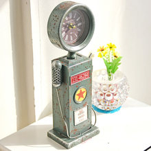 Retro self-help sales machine Model Creative Tin table Clock Decoration photo props handicraft furnishing articles