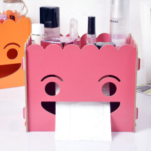 Manufacturer find Seoul M989 Mini cute smile wood cosmetics containing DIY tissue box