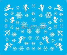 2PCS D266 Snowflake Nail Art Water Decal Nail Water Transfer Sticker