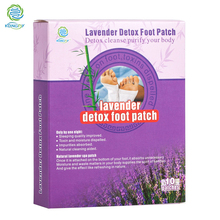 KONGDY New Arrival 10 Pieces/ Box Lavender Essential Oil Bamboo Vinegar Detox Foot Patch Adhesive Detox Slim Foot Care Plaster(China)