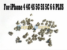 2set/lot 100% New Full Screws Set with Botton Screw For iphone 6G 6S Plus 4.7'' 5.5'' 4 4S 5 5S 5C Replacement parts