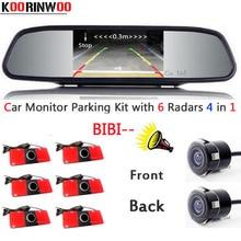 Parktronic Car parking Sensor 6 Video Front/Black Radars Buzzer Front camera Car Rear view camera Car detector Parking System