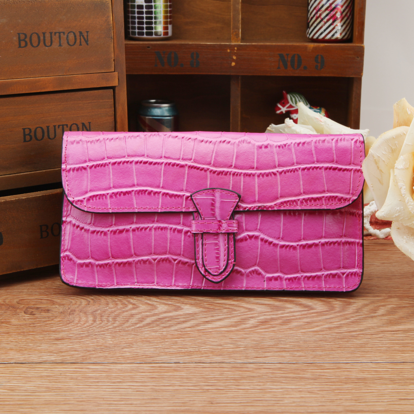 2017 NEW Long Women Wallets Genuine Leather Coin Purse Famous Brand Womens Wallets and Purses Crocodile Pattern Wallet<br><br>Aliexpress
