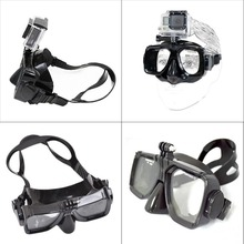 Hot Sale For ZJM Camera Mount Diving Mask Scuba Snorkel Swimming Goggles f GoPro HD Hero 2 3 3+ 4 5 6(China)