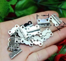 2014 Seconds Kill Freeshipping 16 * 13mm White Lace Small Metal Hinge Together Top Heavy Box Model After Deduction
