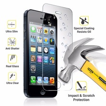 Strong Package 9H 0.25mm Tempered Glass Front Screen Protector For iPhone 7 6 6S Plus 5 5S 3 4S 5C SE Film Explosion-proof Sklo