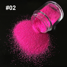 New 3D 10g/bottle Dazzling Candy Rose Red Nail Art Sugar Powder Nail Art Mixed Rainbow Glitter Dust Tips Decorations  Desig 1302