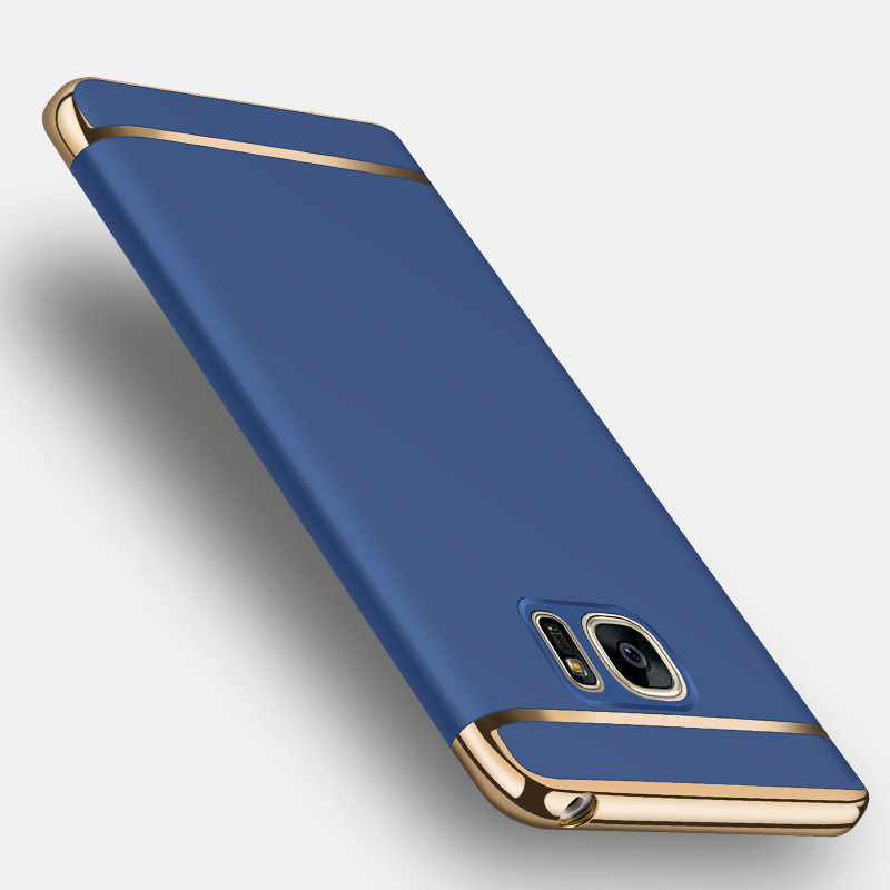 Housing For Samsung Galaxy Note 5 Case 3 in 1 Set Hard Matte Plating Plastic Back Phone Cover For Samsung Note5 Cover(China)