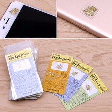 50PCS Korea Cartoon Anti-radiation Gold-plated Mobile Cell Phone Camera Stickers