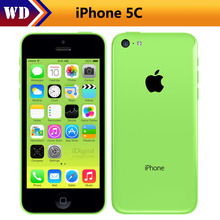 "iPhone5c Original Apple iPhone 5C Unlocked Mobile Phone Dual Corez 16/32GB IOS  Retina 4.0"" IPS 1GB 8MP 1080P GPS WIFI 3G WCDMA"