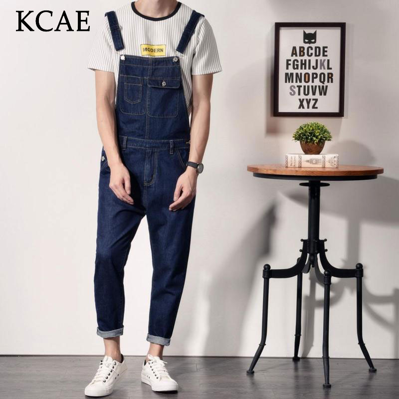 2016 Mens Suspender Pants Plus Size Bib Overalls Jeans For Men Fashion Slim Fit Denim Overalls Men Blue Îäåæäà è àêñåññóàðû<br><br>
