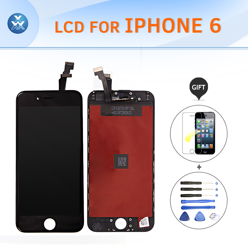 AAA 4.7 pantalla for Apple iPhone 6 LCD replacement full assembly LCD display touch screen digitizer complete set black white<br><br>Aliexpress