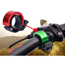 Mountain Road Bike Bell Aluminum Alloy Cycling Bicycle Handlebar Ring Bell Safe Alarm Environmental Horn With a Mount Holder